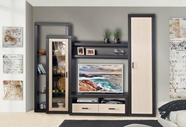Горка в гостиную: фото стенки, мебель для посуды, в классическом стиле шкаф, красивый дизайн и дешевые модули