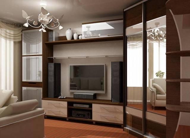 Угловая стенка в гостиную: со шкафом для зала, круглая мебель, фото, бывают ли платяные