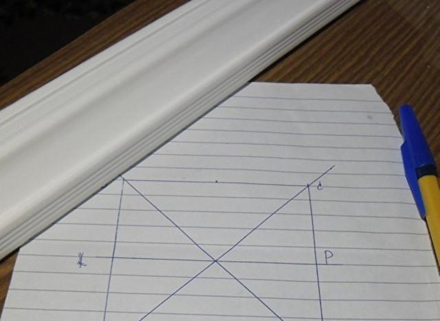 Плинтус на потолок как резать угол: как клеить, видео как сделать, как соединить круглый багет, как правильно