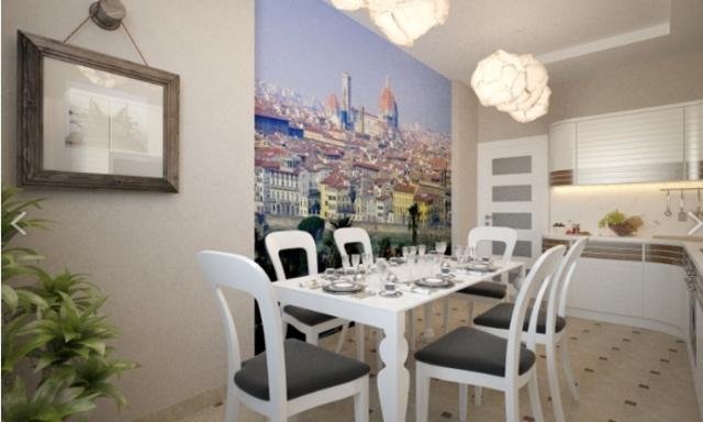Фотообои на кухню на стену: фото, 3д для кухни, 3d к красной кухне