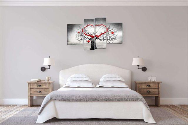 Картины для спальни: какие можно вешать, фото и каталоги, модульные с пионами, панно на стену в интерьер