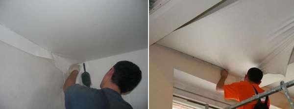 Как натягивают натяжные потолки видео: своими руками как правильно, как самостоятельно холодным способом, на сколько можно растянуть