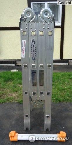 Лестница-трансформер Алюмет 4х4: алюминиевые 4х6, Т 444 и 433 4х3, отзывы о 455 4х5 шарнирной
