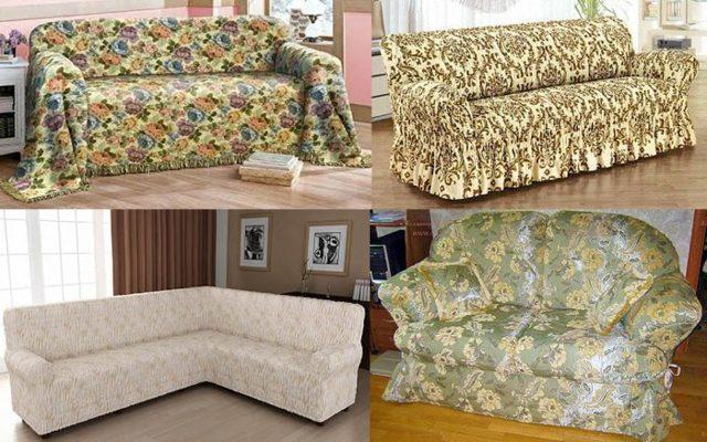 Чехлы на мебель: для мягкой пошив, выкройки своими руками, как сшить на боковины дивана, шитье и фото