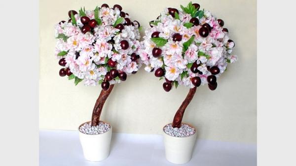 Топиарии из искусственных цветов: из травы, фото своими руками, мастер класс как сделать, видео