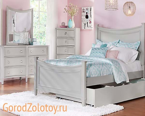 Спальня для девочки-подростка 15 лет: фото и дизайн интерьера, мебельный гарнитур, оформление детской двух девочек