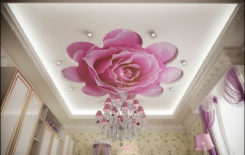 Потолок с фотопечатью: фото матовых в каталоге, с рисунками цветов, картинки бабочек и неба, отзывы