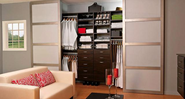 Дверь для гардеробной: фото комнаты, складные системы, зеркальные и гармошкой, Икеа для встроенной, распашные и радиусные, реечные для шкафа