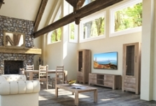 Мебель в гостиную в классическом стиле: фото гарнитура мягкого, комоды и шкафы, белая из Белоруссии, корпусная и модульная