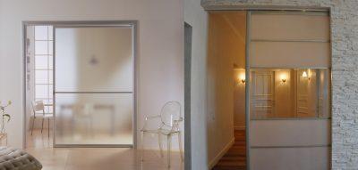 Фальш-стена из гипсокартона: фото, как сделать своими руками, раздвижная дверь на видео, в комнате монтаж