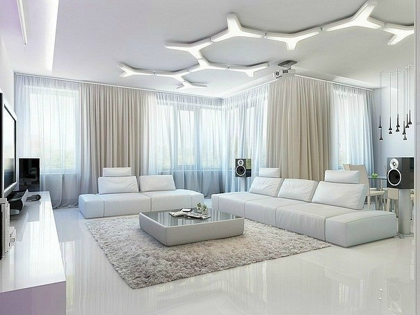 Интерьер гостиной в загородном доме: фото дизайна, проект зала, красивое оформление