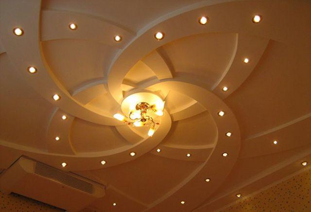 Навесные потолки из гипсокартона: фото, как своими руками дизайн, видео как делают