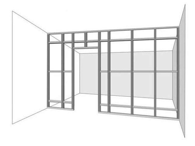 Перегородки из гипсокартона с дверью: как сделать своими руками купе, фото с установкой