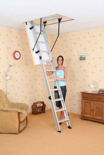 Чердачная лестница: размеры Оман и lwt, потолочная металлическая standard, 120х70 plus и фото roto, чертеж