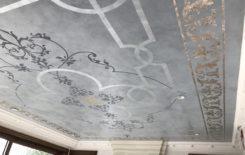 Рисунки на потолке: цвет и фото конструкции, своими руками на стене, как можно сделать облака и дугу трафаретом, карандашом