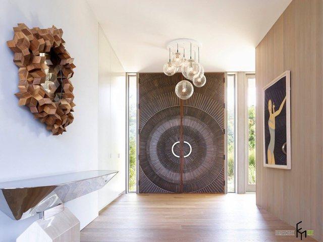 Просторный коридор: большая прихожая, интерьерные идеи для квартиры, проект и дизайн, фото планировки и стены