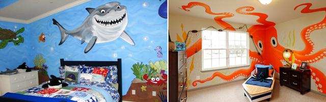 Детские обои: для комнаты и стен, фото с кораблями в интерьере, с совами и звездами, в полоску и с динозаврами