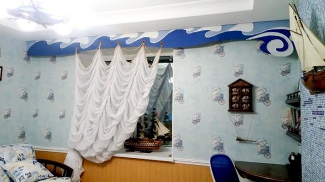 Шторы в морском стиле: дизайн детской, фото и картинки, римские занавески, тематика ткани, паруса и оформление