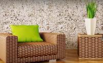 Натуральные обои: из растительных материалов, cosca в интерьере, фото, как клеить под камень, марсель
