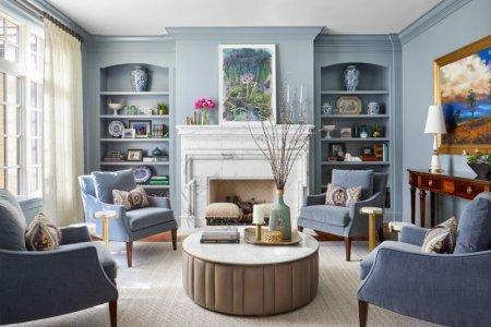 Гостиная в классическом стиле: фото вариантов, стулья лучшие в квартире, модули в частном доме, российские комнаты