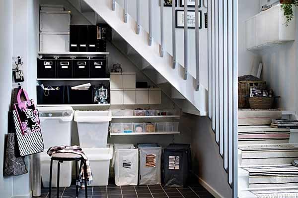 Пространство под лестницей: устройство туалета на втором этаже, фото и размеры проема, мебель и кладовка, идеи