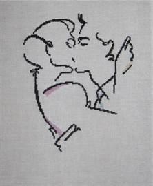 Черно-белая вышивка крестом схемы: бесплатно скачать, люди и контурные картинки, женщина и мужчина