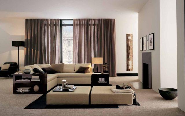 Шторы в стиле хай-тек фото: для кухни и гостиной, дизайн зала, занавески и карнизы в спальню на окна