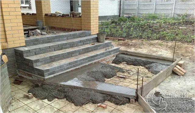Изготовление бетонных лестниц: как залить и сделать своими руками, видео, заливка и изготовление крыльца