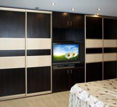 Шкаф в спальне: фото в современном стиле, навесной и плательный, варианты модульных шифоньеров и стенок