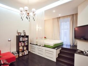 Как разделить комнату на две зоны спальня и гостиная фото: зонирование интерьера, идеи и варианты