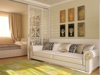 Комната 17 кв. м спальня-гостиная фото: дизайн и зонирование, интерьер м2, метры совмещенные для зонирования