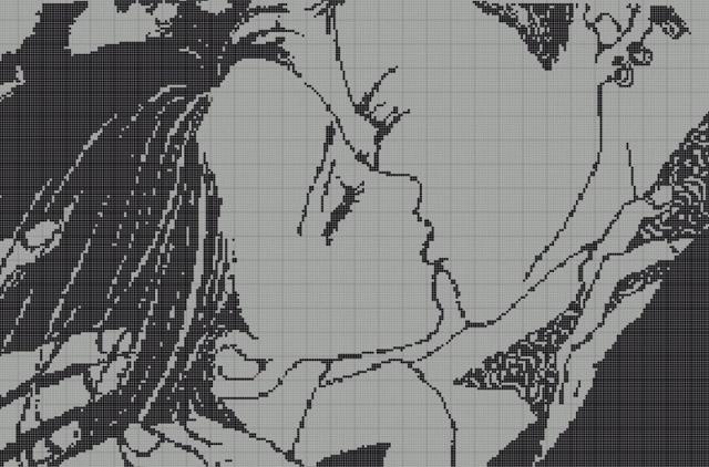Аниме вышивка крестом схемы: картинки, простые персонажи, по клеткам хвост феи, бесплатно