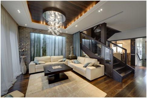 Лестница в интерьере: фото холла и второй этаж, часть гостиной дома, белая съемная комната, декоративная детская