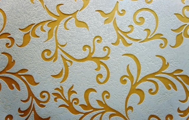 Рисунки жидкими обоями на стене: фото трафаретов, картинки и характеристика, как сделать в интерьере, видео