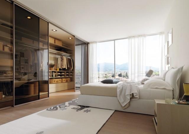 Шкафы-купе фото дизайн в спальню: интерьер и современные идеи, угловые и встроенные, двери внутри