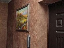 Декоративная штукатурка в прихожей: фото венецианской в коридоре, в интерьере, на стены квартиры, отделка фактурной своими руками