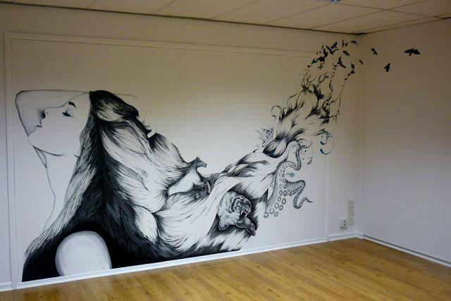 Декор интерьера своими руками: стены, трафареты, декупаж