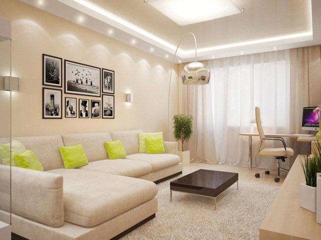 Бежевые обои: какие шторы подойдут, фото под обои для стен, сочетания в интерьере, светлые цвета, серые