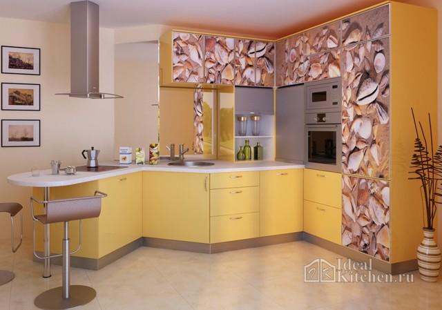 Цвет обоев для кухни: серые и желтые, фото в полоску, светлые подобрать под цвет, выбрать кофе или оранжевые