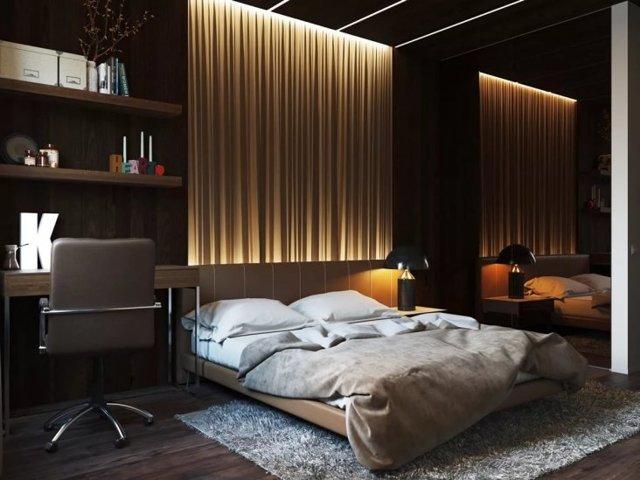 Освещение в спальне: фото, точечный свет, прикроватные лампы на маленькую тумбочку, современные настенные варианты
