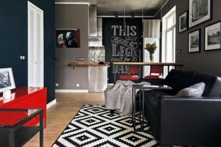 Дизайн узкой гостиной: фото длинного интерьера, вытянутая планировка, зал с северной стороны, комната круглого дома