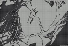Схемы вышивки крестом влюбленные пары: бесплатно, на качелях монохром, день влюбленных скачать, палитра