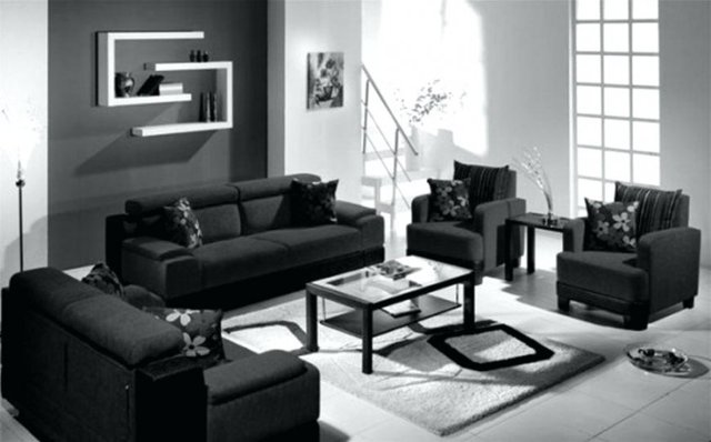 Черно-белая гостиная: фото интерьера, тона для зала, мебель и дизайн, цвета и стили, стекло серое в квартире
