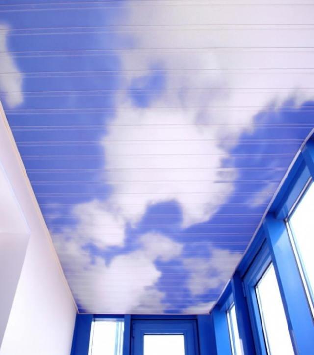 Потолок на балконе: лоджии отделка, подвесного варианты, фото как сделать лучше