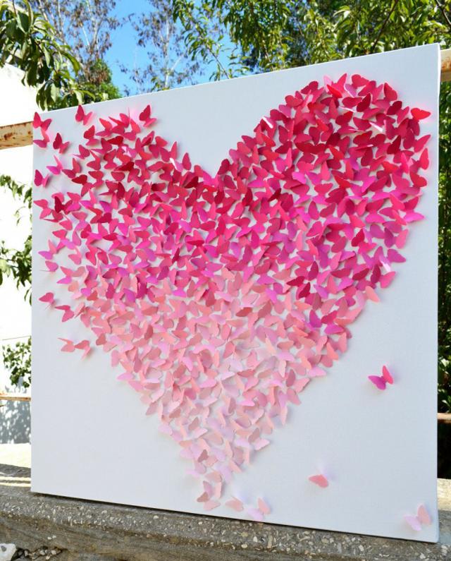 Панно из бабочек: своими руками на стену, бумажное сердце, как сделать квиллинг, фото-идеи, мастер-класс