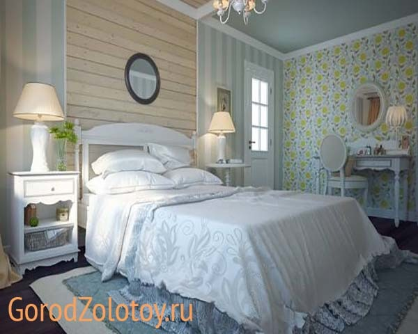 Спальня в стиле прованс: фото интерьера, мебель и дизайн в мансарде, белый гарнитур, маленькая Трия, оформление