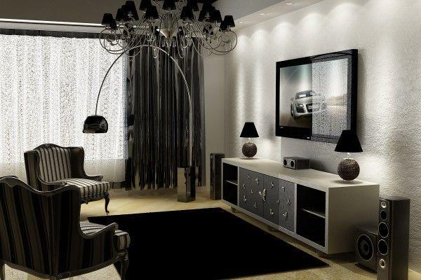 Черные шторы: черно-белые фото для интерьера, кухня и гостиная, спальня в стиле и зал, обои в тонах и тюль