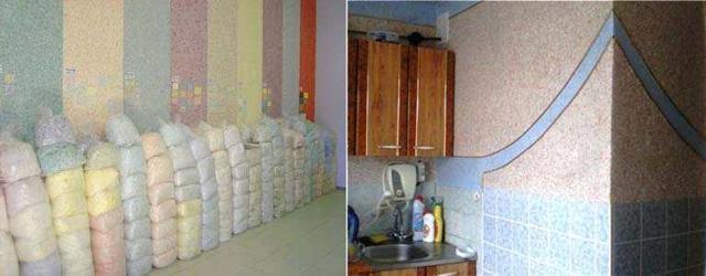 Жидкие обои на кухне: фото интерьера, отзывы, можно ли использовать, недостатки, клеить рисунки