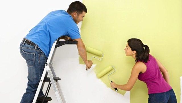 Акриловая краска для стен и потолков: акрилатная какая лучше, без разводов можно ли водоэмульсионной, водно-дисперсионную моющую для стен чем развести