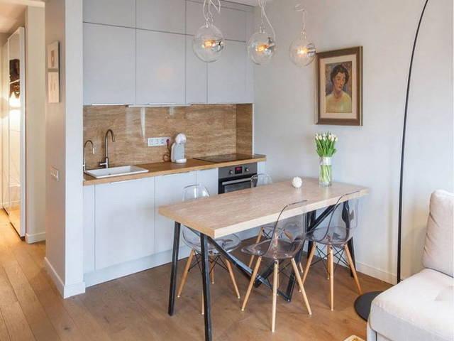 Кухня-гостиная 18 кв м дизайн фото: студия, квадратный нтерьер, совмещенная планировка, проект спальни в зале
